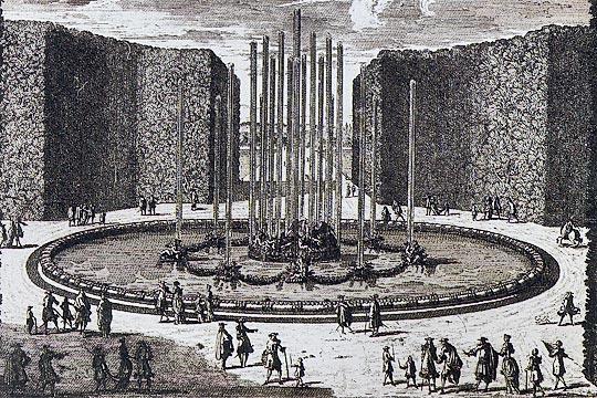 Bassin de saturne jardins de versailles fran ois girardon 1672 77 gravure du xviie si cle - Bassin ancien de jardin orleans ...