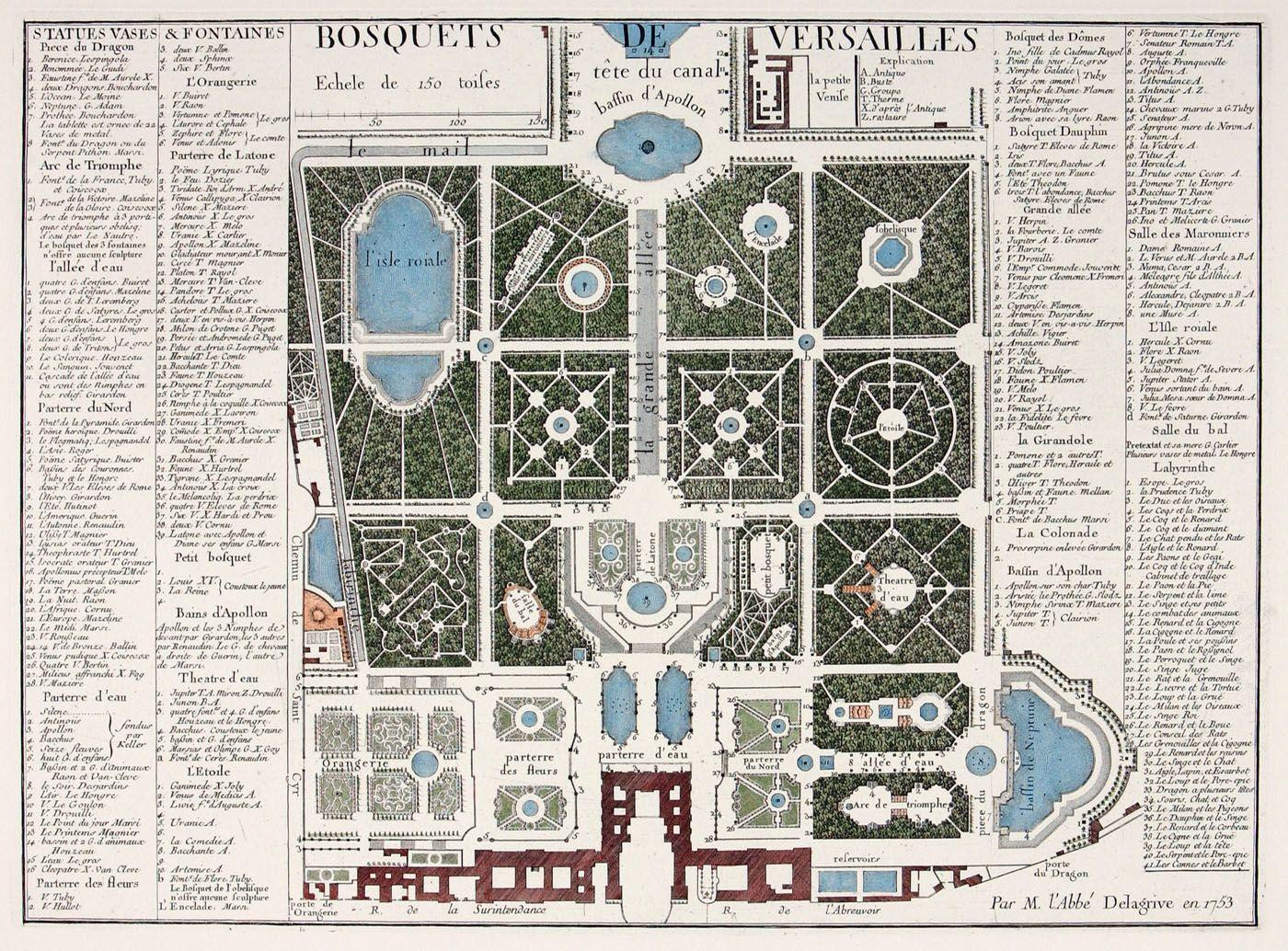 plan du parc de versailles andr le n tre. Black Bedroom Furniture Sets. Home Design Ideas