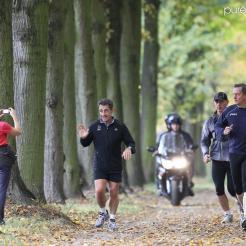 Nicolas SarKozy dans le parc