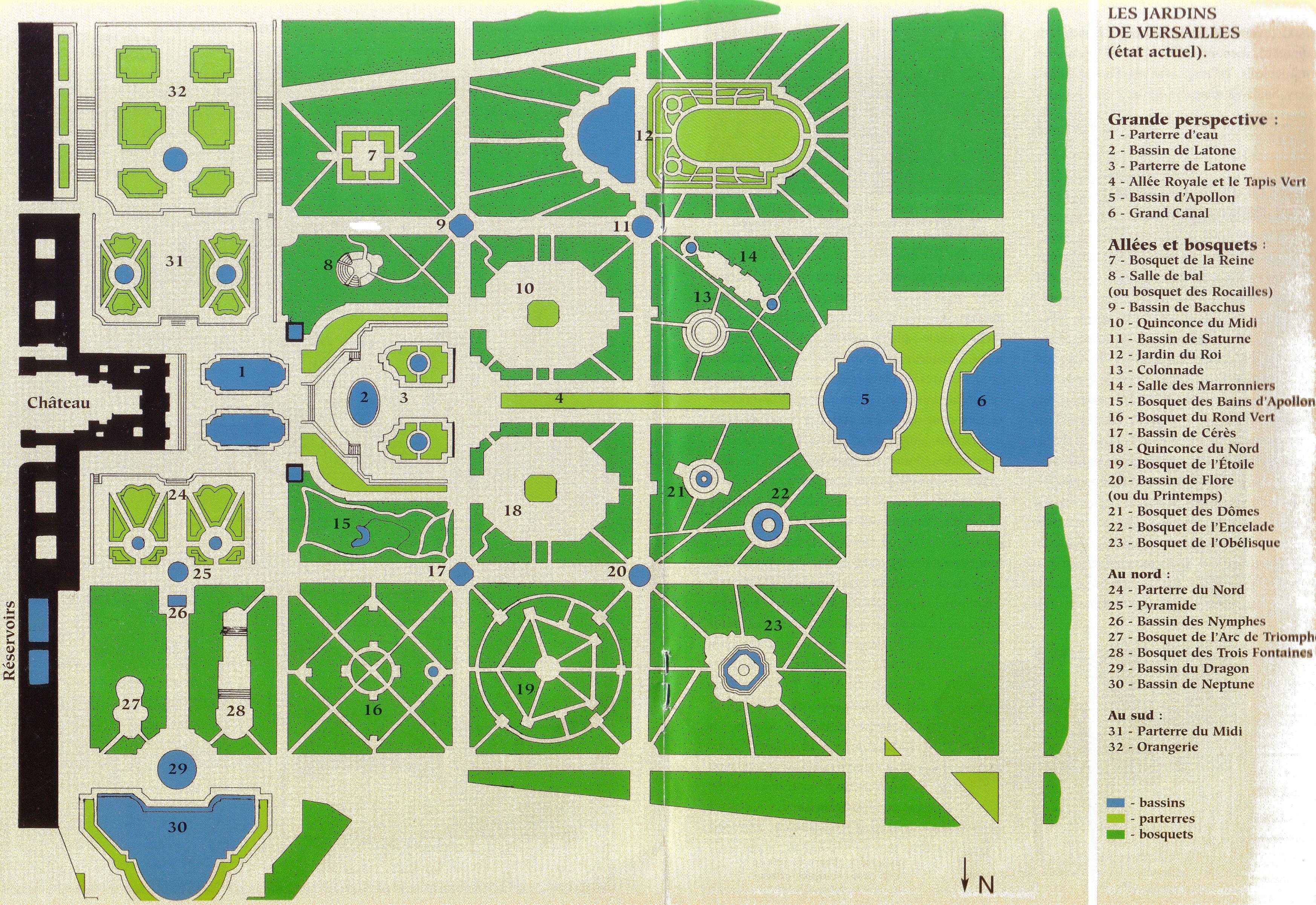 Plan du parc de versailles andr le n tre for Architecte jardin versailles