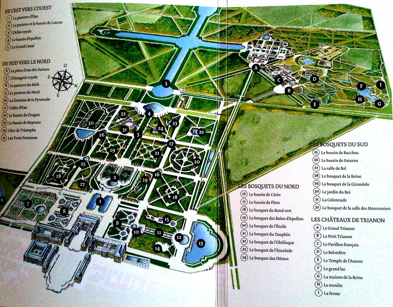 plan du cul Versailles