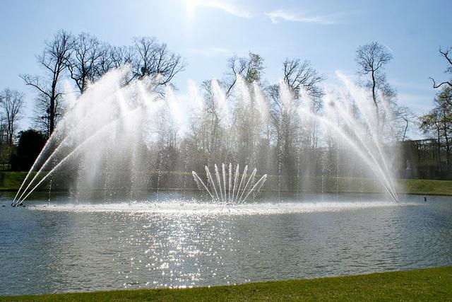 Bassin du miroir jardins de versailles vue rapproch e for Bassin miroir