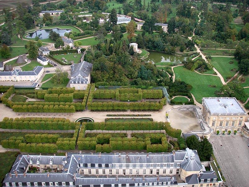 jardin du petit trianon   vue a u00e9rienne