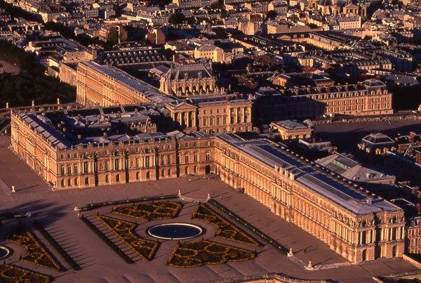 Parterre du midi et ch teau jardins de versailles vue for Chateaux yvelines visites