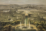 Illustration du XIXe siècle, vue depuis le bassin de Latone