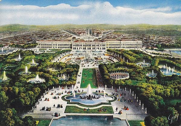 Petit parc de versailles vue g n rale du bassin de latone du tapis vert et du ch teau carte - Chateau de versailles jardin ...