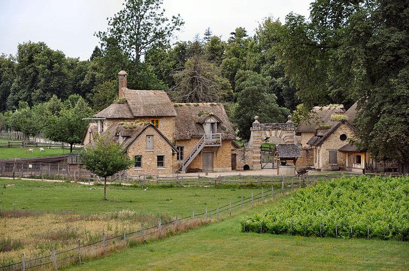 hameau de la reine jardins du petit trianon vue arri re. Black Bedroom Furniture Sets. Home Design Ideas