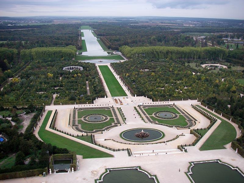 Grande Perspective Jardins De Versailles Vue Aerienne Du Parterre