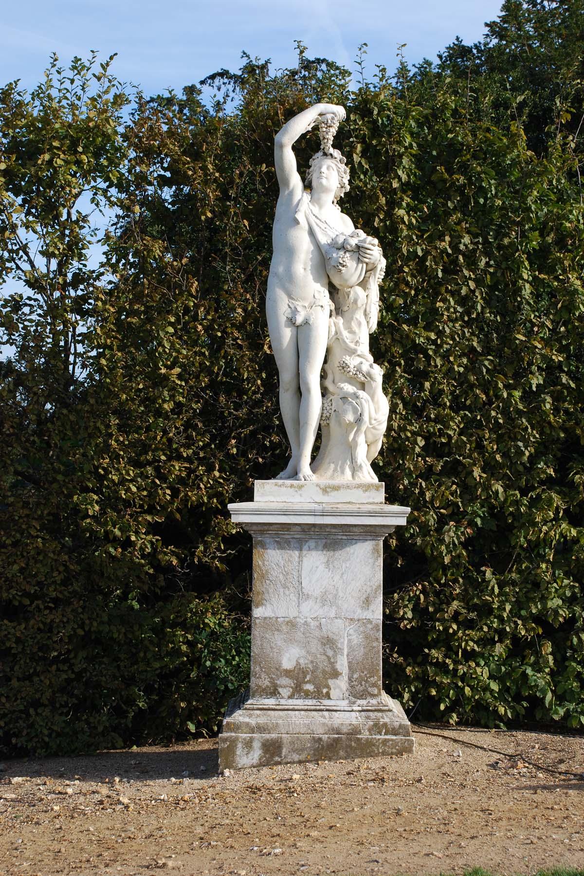Statue de bacchus granier 1688 jardins de versailles for Jardin versailles