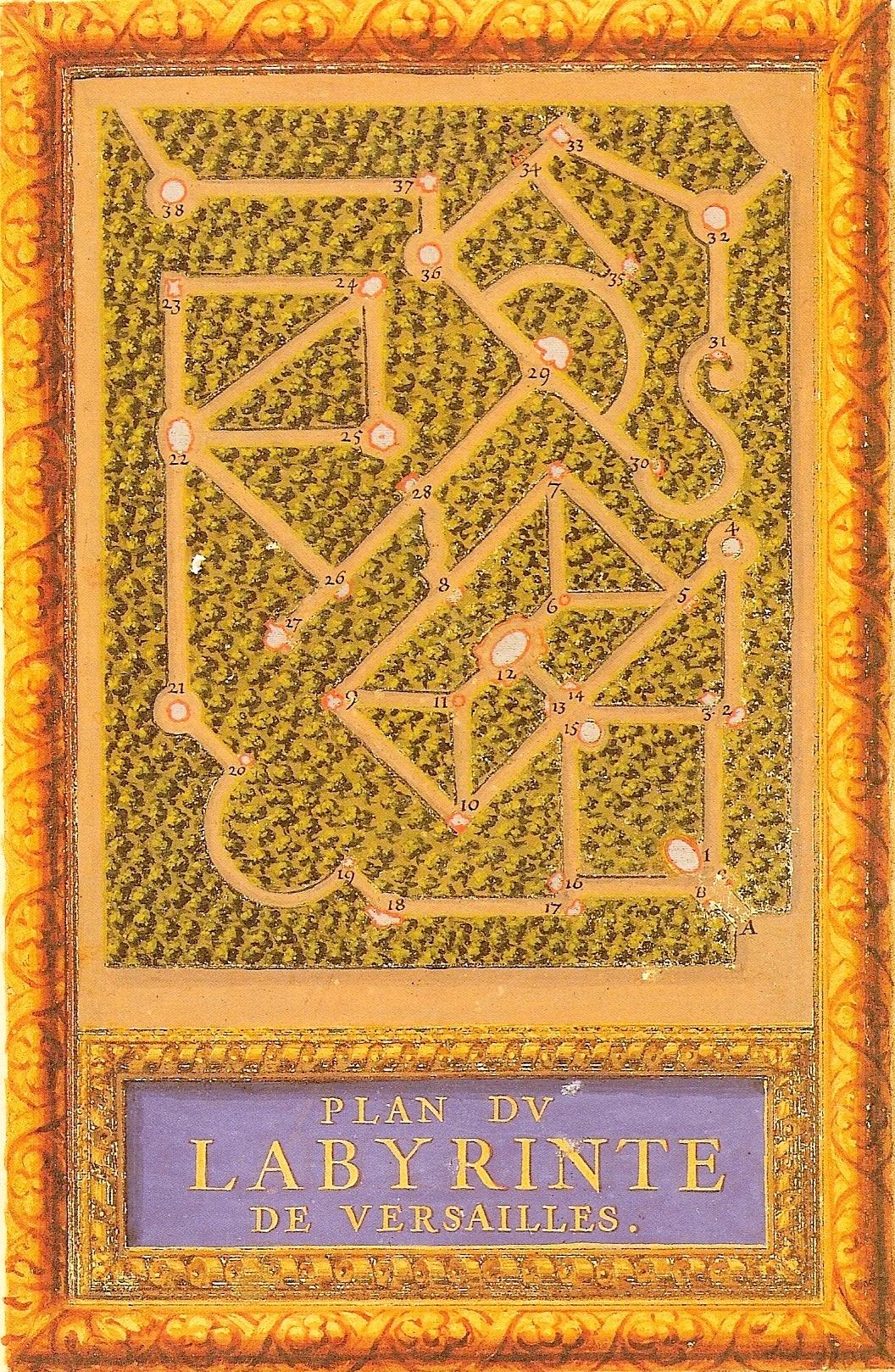 bosquet disparu du labyrinthe petit parc de versailles plan andr le n tre. Black Bedroom Furniture Sets. Home Design Ideas