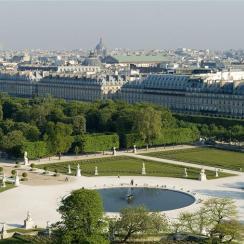 Jardin des Tuileries : Grand Carré, Cribier Pascal (né en 1953) Benech Louis (né en 1957)