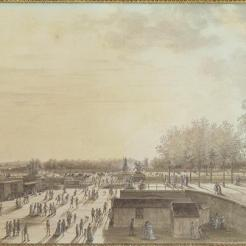 Vue du jardin des Tuileries, 1774, Lespinasse Louis Nicolas de (1734-1808)
