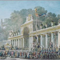 Entrée de l'Empereur et de l'Impératrice dans le Jardin des Tuileries, Fontaine Pierre-François-Léonard (1762-1853)
