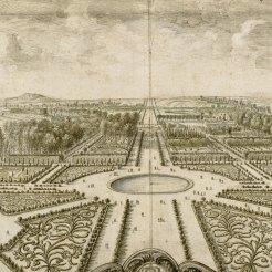 Vue du jardin des Tuileries après 1671 avec perspective vers l'Ouest, Israël Silvestre