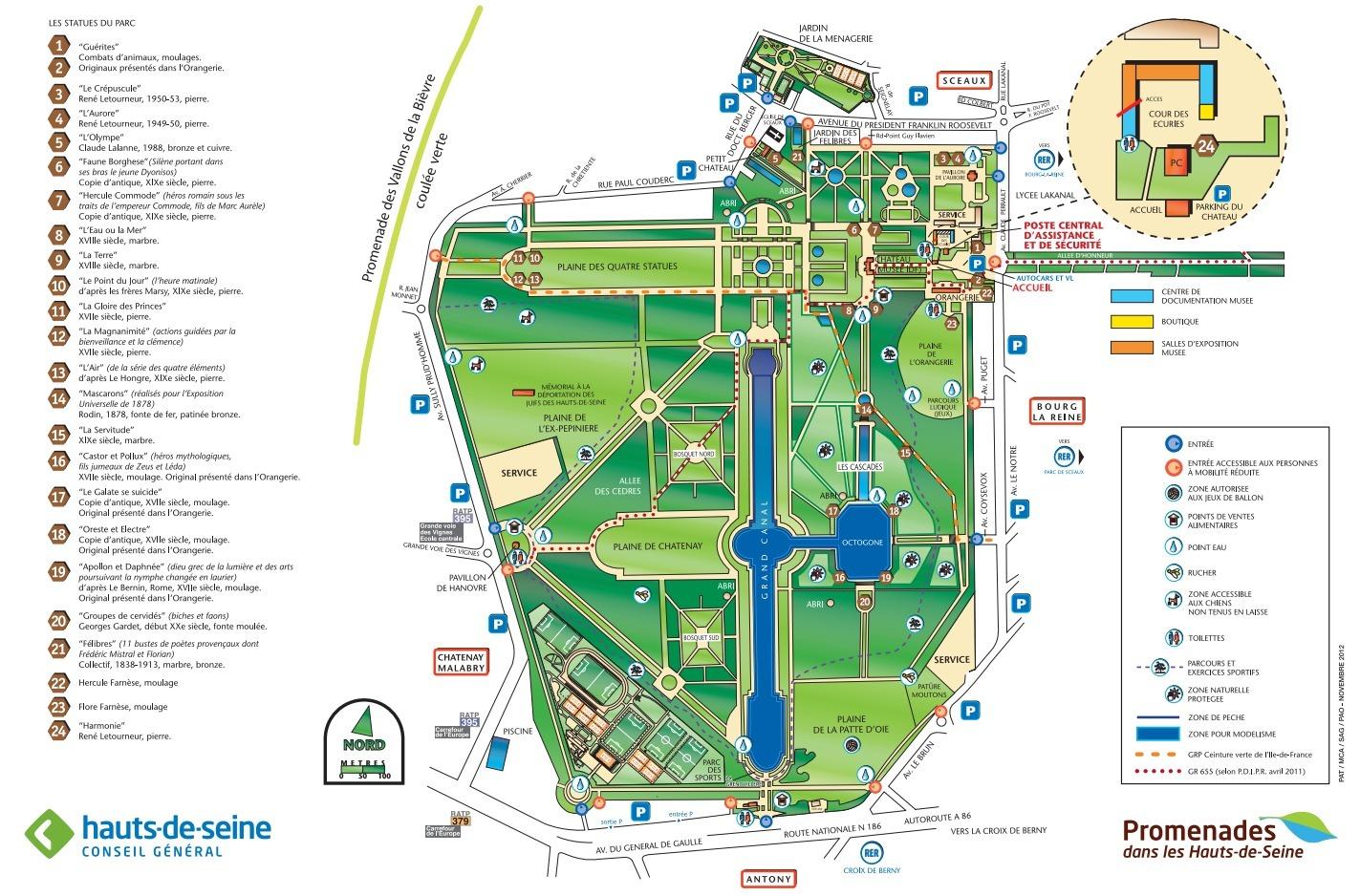 Bien connu Plan du parc de Sceaux | André Le Nôtre QO47