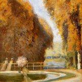 Trois dames dans le parc de Versailles, Paul César Helleu