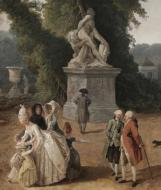 Détail : Louis XVI et Marie-Antoinette devant la statue de Milon de Crotone