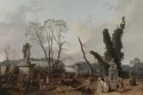 Le Tapis Vert au moment de l'abattage des arbres hiver 1774-1775 dans les jardins de Versailles