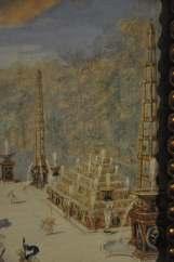 Buffet d'eau du bosquet de l'Arc de Triomphe latéral 3