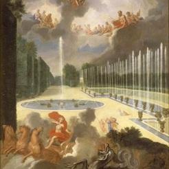 7. Vue du Bassin du Dragon et de la rampe du bassin de Neptune avec Apollon tuant le serpent Python - Jean Cotelle