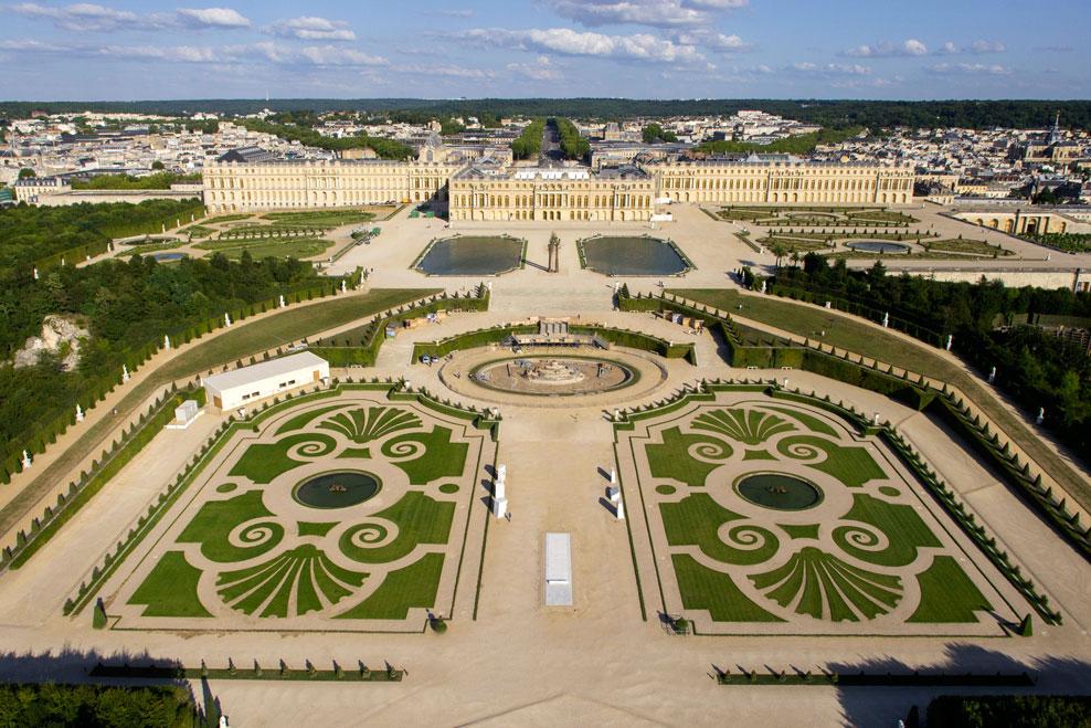 Parterre de latone petit parc de versailles vue - Jardin du chateau de versailles gratuit ...
