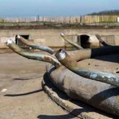 dépose des anciennes canalisations et préparation du nouveau système hydraulique