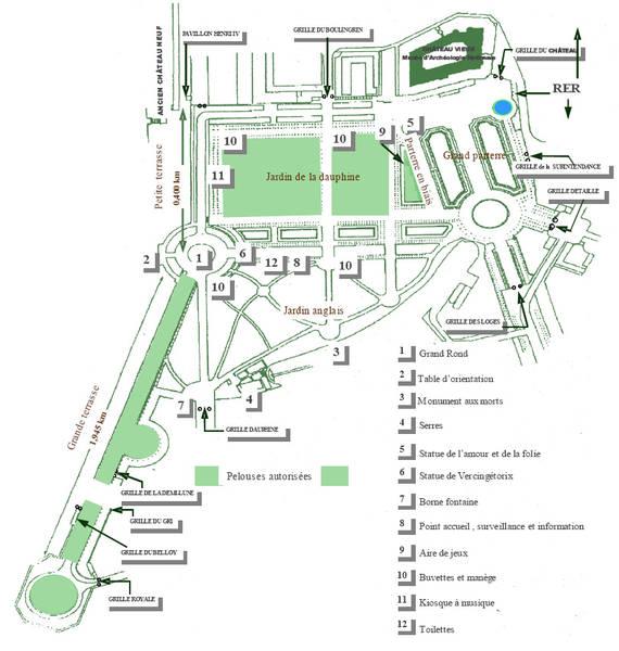 Plan du parc de saint germain en laye andr le n tre - Foret saint germain en laye plan ...