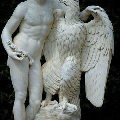 Ganymede enlevé par Zeus métamorphisé en aigle