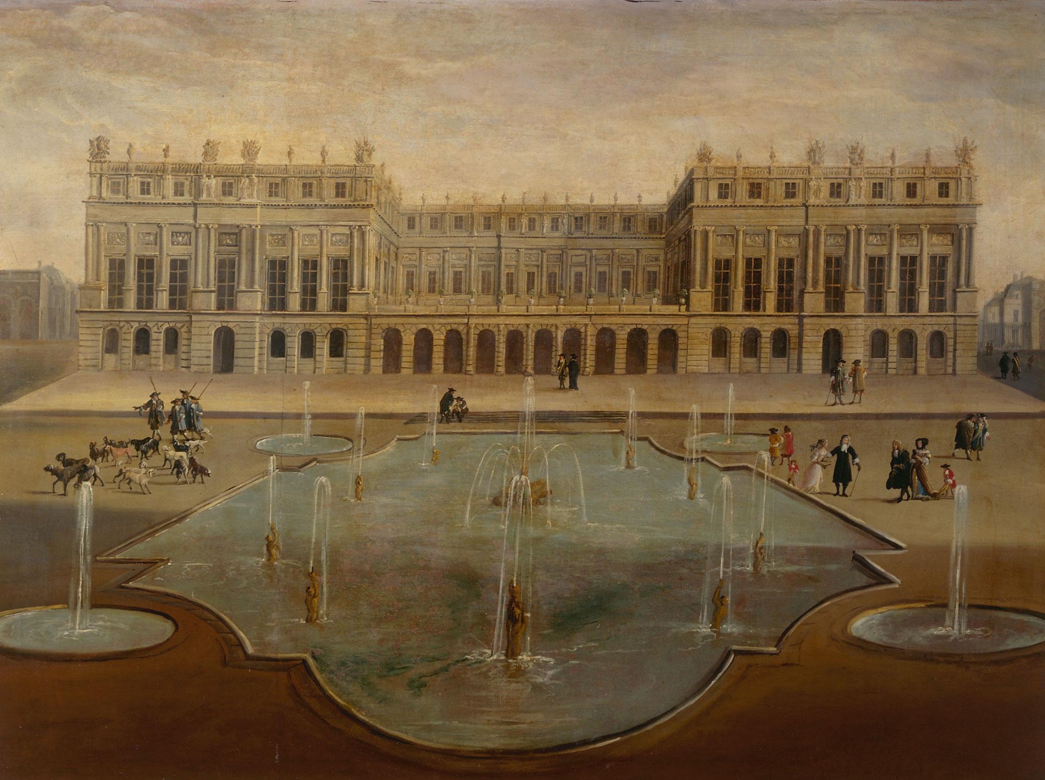 Parterre d eau jardins de versailles par anonyme xviie - Jardin de versailles histoire des arts ...