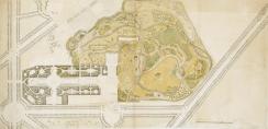 Premier projet d'aménagement des jardins anglo-chinoisdu Petit Trianon