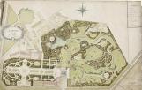 Plan du jardin entre 1780 et 1785 par Thomas-Malgloire Daussy