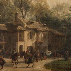 Visite de la reine Victoria au Hameau du Petit Trianon, le 21 août 1855, illustrée par Karl Girardet
