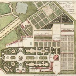 Plan du «Nouveau Trianon» planté par Louis XV.Anonyme, vers 1774