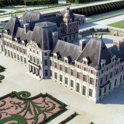Château de Meudon, côté jardins (restitution)