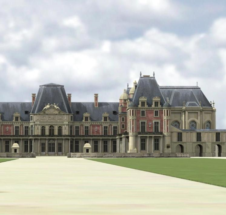 Entrée du château de Meudon, vers 1715 (restitution)