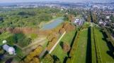 Terrasse avec l'étang de Bel Air