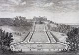 Grande Perspective, vue sur château et orangerie, Israël Silvestre, 3e quart du xviie siècle