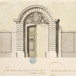 Porte Dauphine, réalisée en 1703