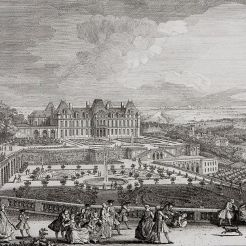 Château du côté des parterres, Jacques Rigaud, vers 1730