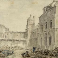 Démolition du Château-Vieux, Hubert Robert, 1804