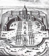 Projet de colonnade, la cathédrale Saint-Louis des Invalides