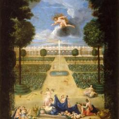 22. Vue des Parterres de Trianon avec Flore et Zéphyr - Jean Cotelle