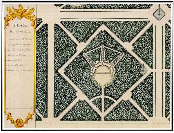 plan du bosquet du th tre d eau jardins de versailles par jean chaufourier 1679 1757 andr. Black Bedroom Furniture Sets. Home Design Ideas