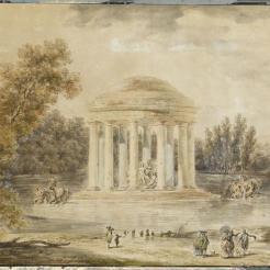 Projet pour l'installation d'un temple dédié à Apollon dans les jardins de Versailles, Robert Hubert (1733-1808) (attribué à)