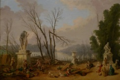 Le Tapis vert au moment de l'abattage des arbres à l'hiver 1774-1775 dans les jardins de Versailles