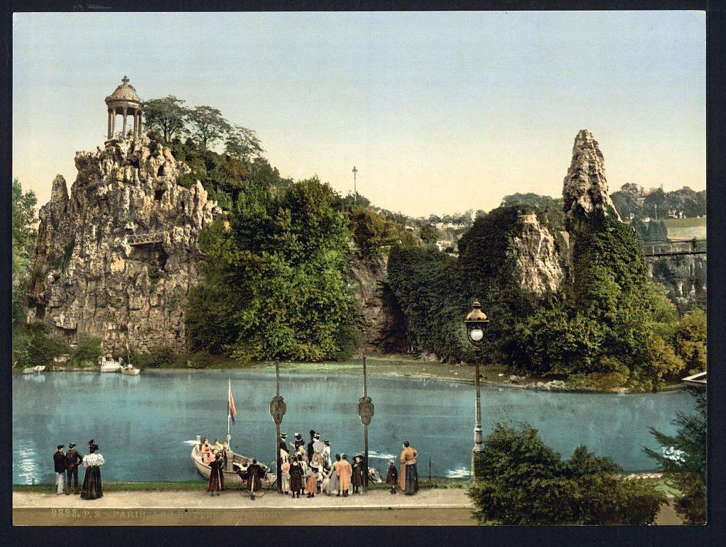Carte Buttes Chaumont.Parc Des Buttes Chaumont Carte Postale Ancienne Coloree Andre Le