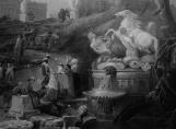 Bosquet des Bains d'Apollon, détail NB
