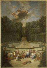 19. Vue de l'amphithéâtre du Théâtre d'eau avec Vénus parée par les heures en présence d'Ouranos - Jean Cotelle
