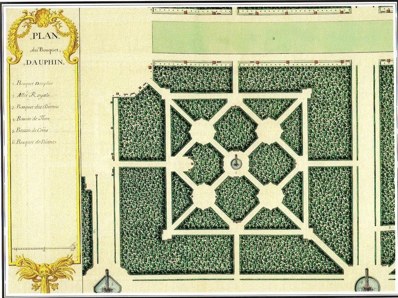 bosquet du dauphin jardins de versailles plan andr le n tre. Black Bedroom Furniture Sets. Home Design Ideas