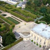 Jardin français et château